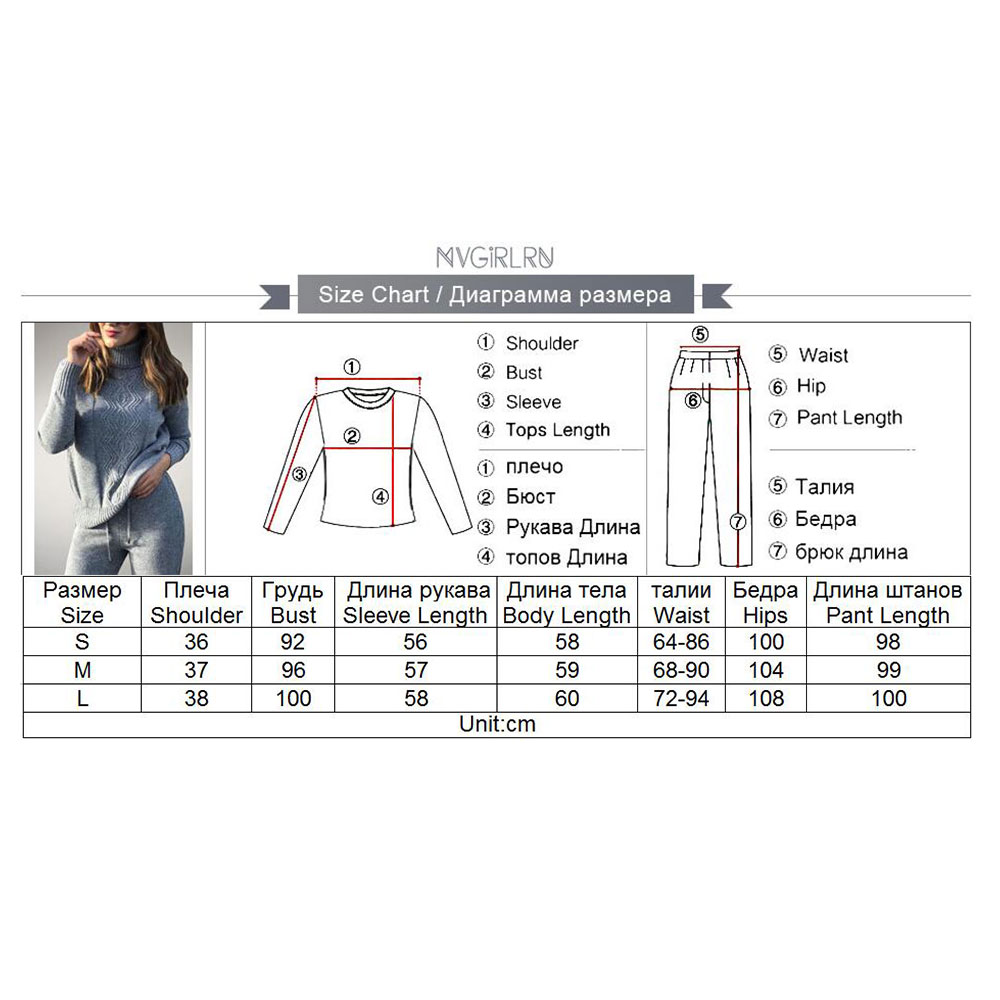 Image 5 - MVGIRLRU soft winter wool knitted Suits dense warm sweater suits 