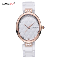 LONGBO 2017 Brand New Luxury Women Watches Fashion Waterproof Ceramic Ladies Quartz Watch Casual Classic Wristwatch