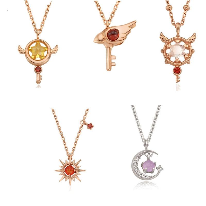 2019 cardcaptor card captor sakura clear cards wand Star Clow Dream Key 925 silver necklace Pendant jewelry