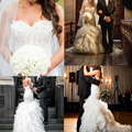 Steven Khalil Wedding Dress 2015 Luxury Court Train Pleat Lace Appliques Beaded Sweetheart Long Bridal Gown