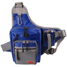 NOEBY 23*18*8CM Waterproof Multifunctional Fishing Bag Foldable Fishing Rod Tackle Bag Bolsa De Pesca Waist Pack Messenger Bags