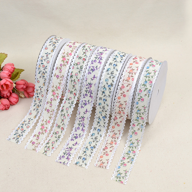 New Single sided Printing Clothing Accessories Ribbon Creative DIY Clothing Sewing Fashion Decoration Belt Grosgrain Ribbon in Webbing from Home Garden