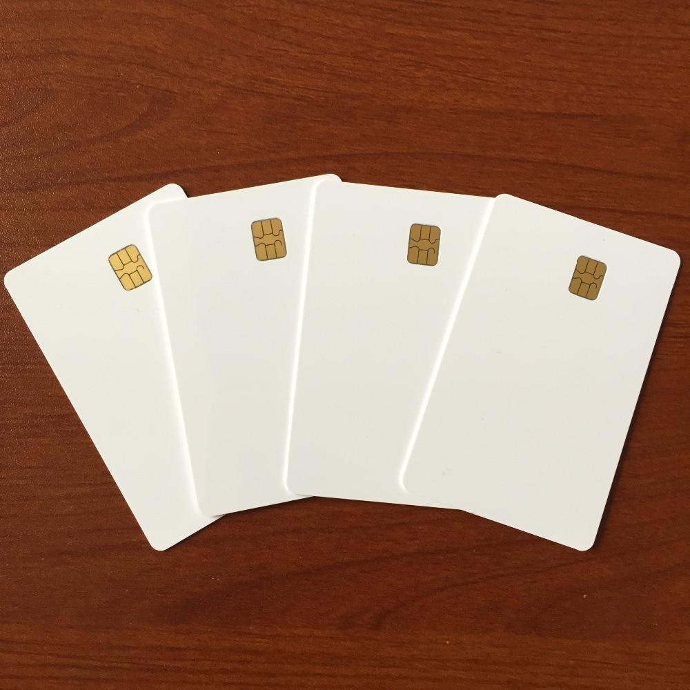 Белый Бланк для распечатки iso7816 AT24C16 записи чтения Контактная смарт карта - 4