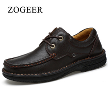 ZOGEER Brand New Men Dress Shoes, Black Mens Leather Shoes Formal Business, Full Grain Leather Lace Up Male Shoe