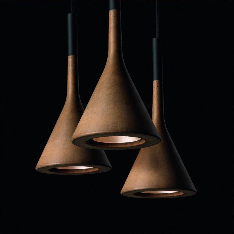 Здесь продается  Nordic LED Creative Novelty modern restaurant hanging lamps bar fixtures bedroom lighting imitation cement Pendant Lights  Свет и освещение