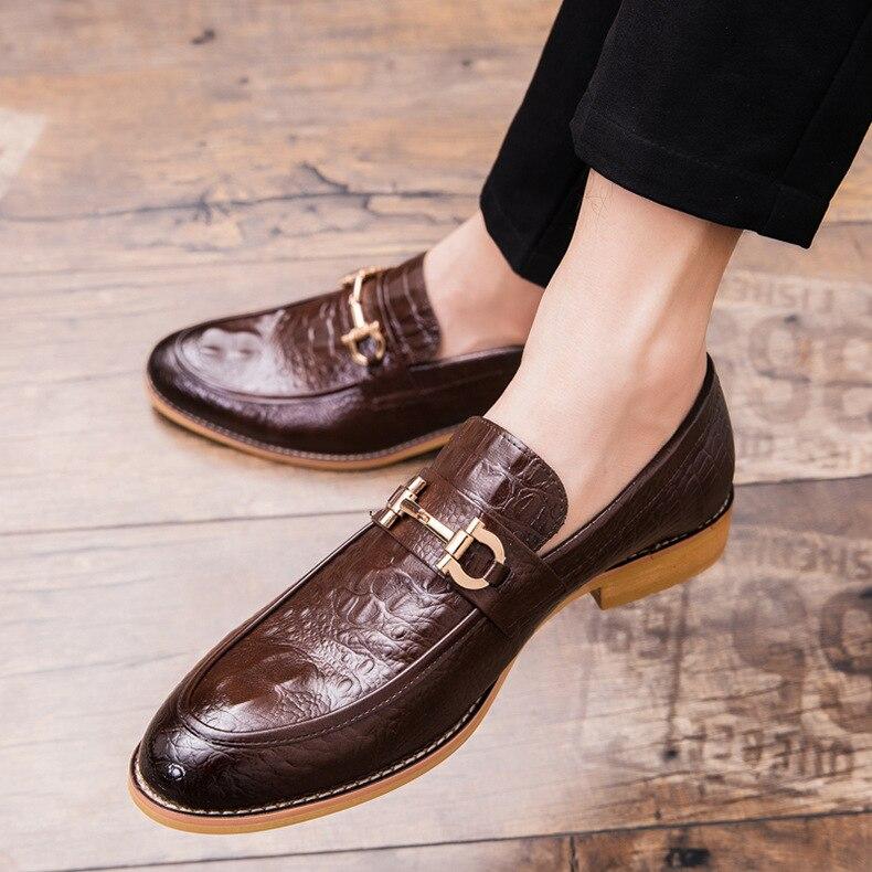 2020 Mewah Pria Sepatu Kulit Asli Pria Crocodile Formal Sepatu