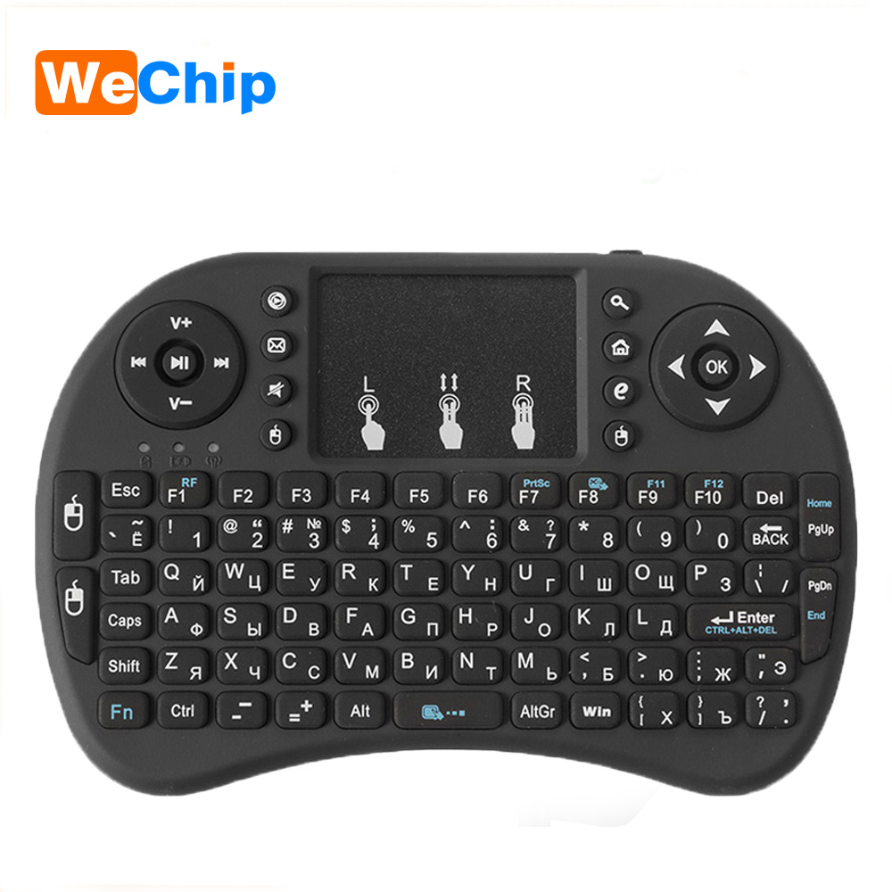 цена на 10pcs/lot Mini i8 Wireless Keyboard 2.4 GHz Air Mouse Russian Or English Remote Control Touchpad For Android TV Box For X96 mini