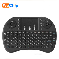 10pcs/lot Mini i8 Wireless Keyboard 2.4 GHz Air Mouse Russian Or English Remote Control Touchpad For Android TV Box For X96 mini