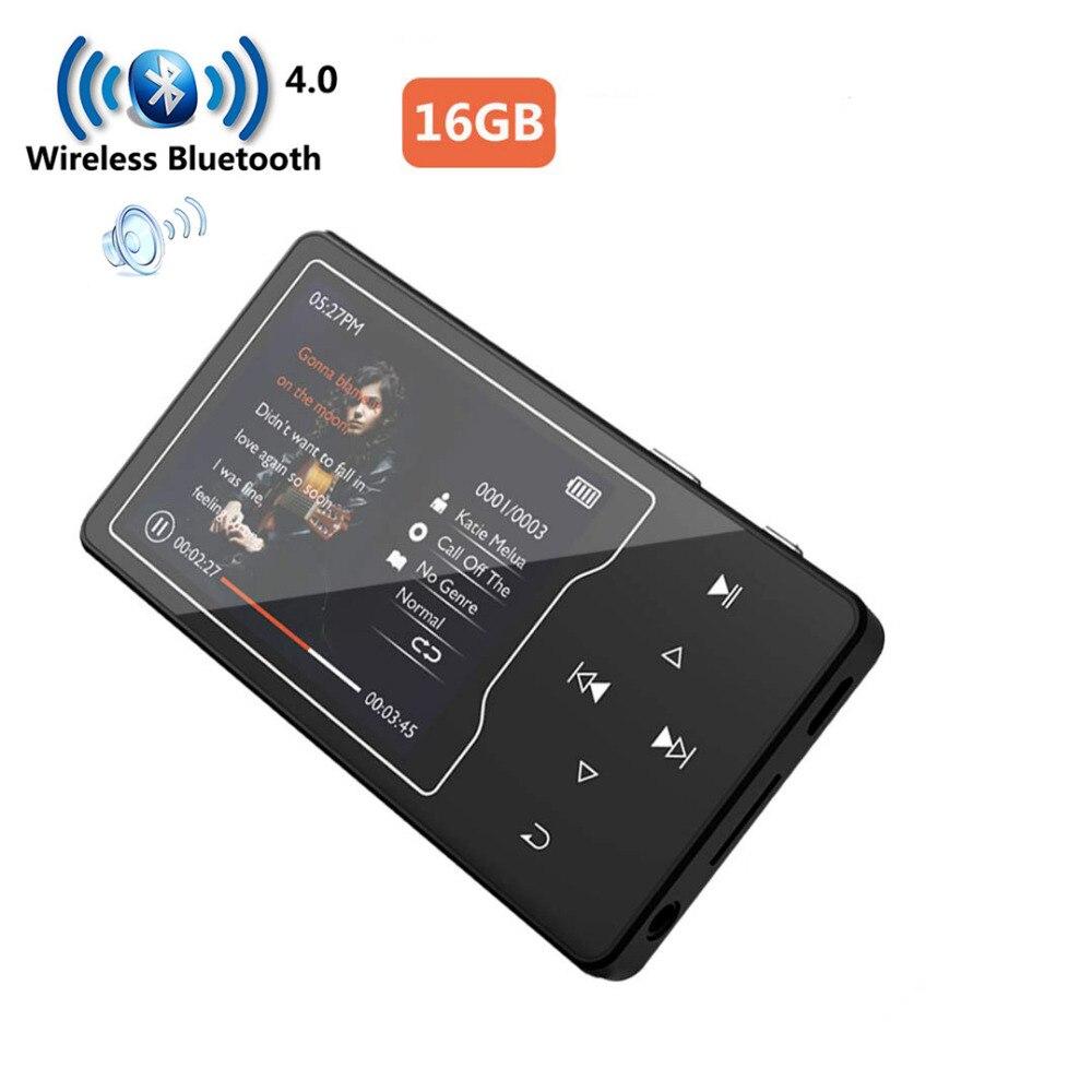 HIFI MP3 Lecteur haut-parleur intégré Métal Corps 2.4in Écran 16G Bluetooth Sans Perte de Son lecteur de musique avec Radio FM, Ebook, TF Carte