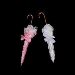 New Mini Doll House Accessories Pretty fine Gifts Dollhouse Miniature Royal Lady Lace Umbrella Decoration 8.5cm(China)