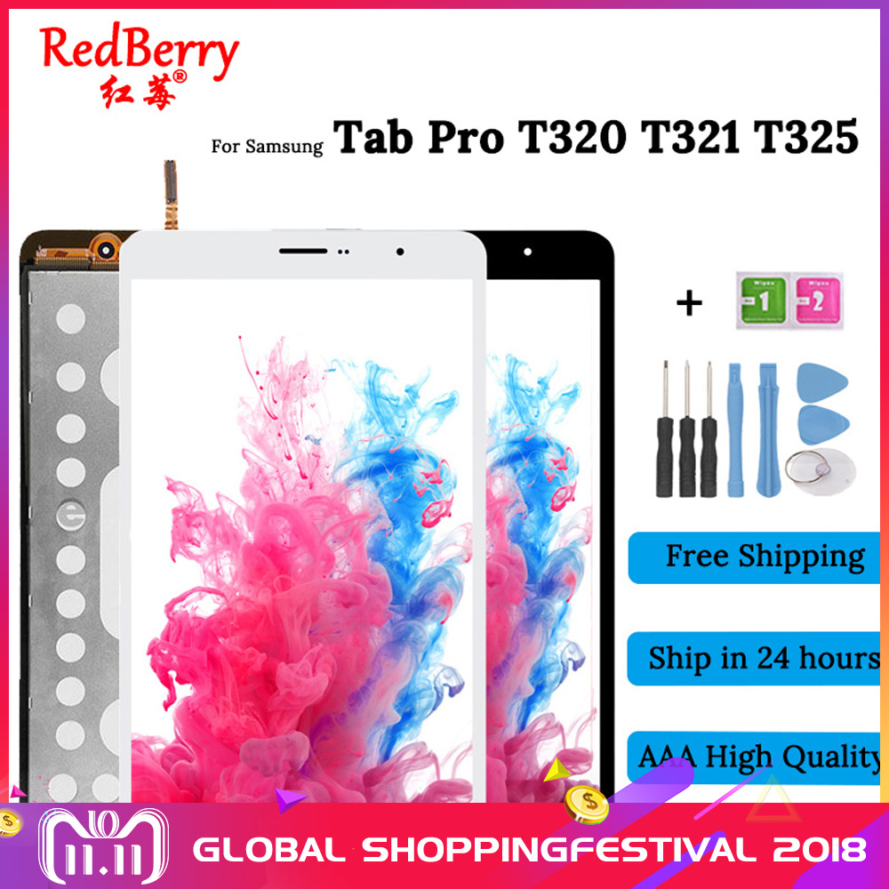 New 8.4 For Samsung Galaxy Tab Pro SM-T320 SM-T321 T320 t321 T325 LCD Display Touch Screen Digitizer Full Assembly for galaxy c5 pro color screen non working fake dummy display model gold