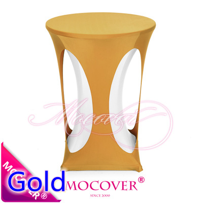 Gold Colour Lycra High Bar Table Linen Spandex Tablecloth Top Cover For Wedding Banquet And Party Tail Decoration In Tablecloths From Home