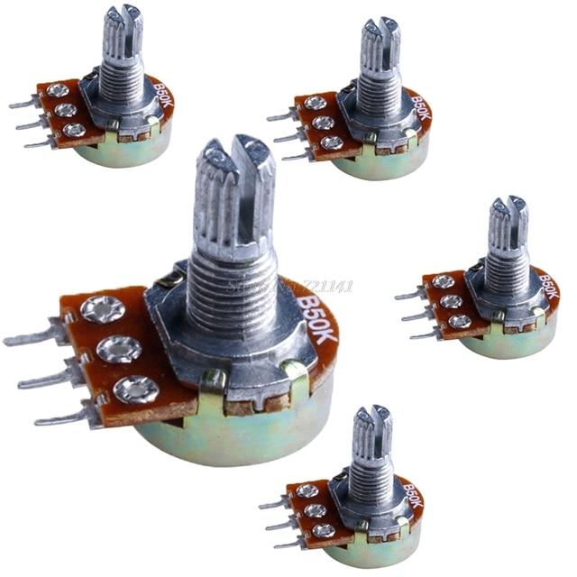 Awe Inspiring 5Pcs 50K 15Mm Ohm Linear Taper Rotary Potentiometer Panel Pot In Wiring Digital Resources Attrlexorcompassionincorg
