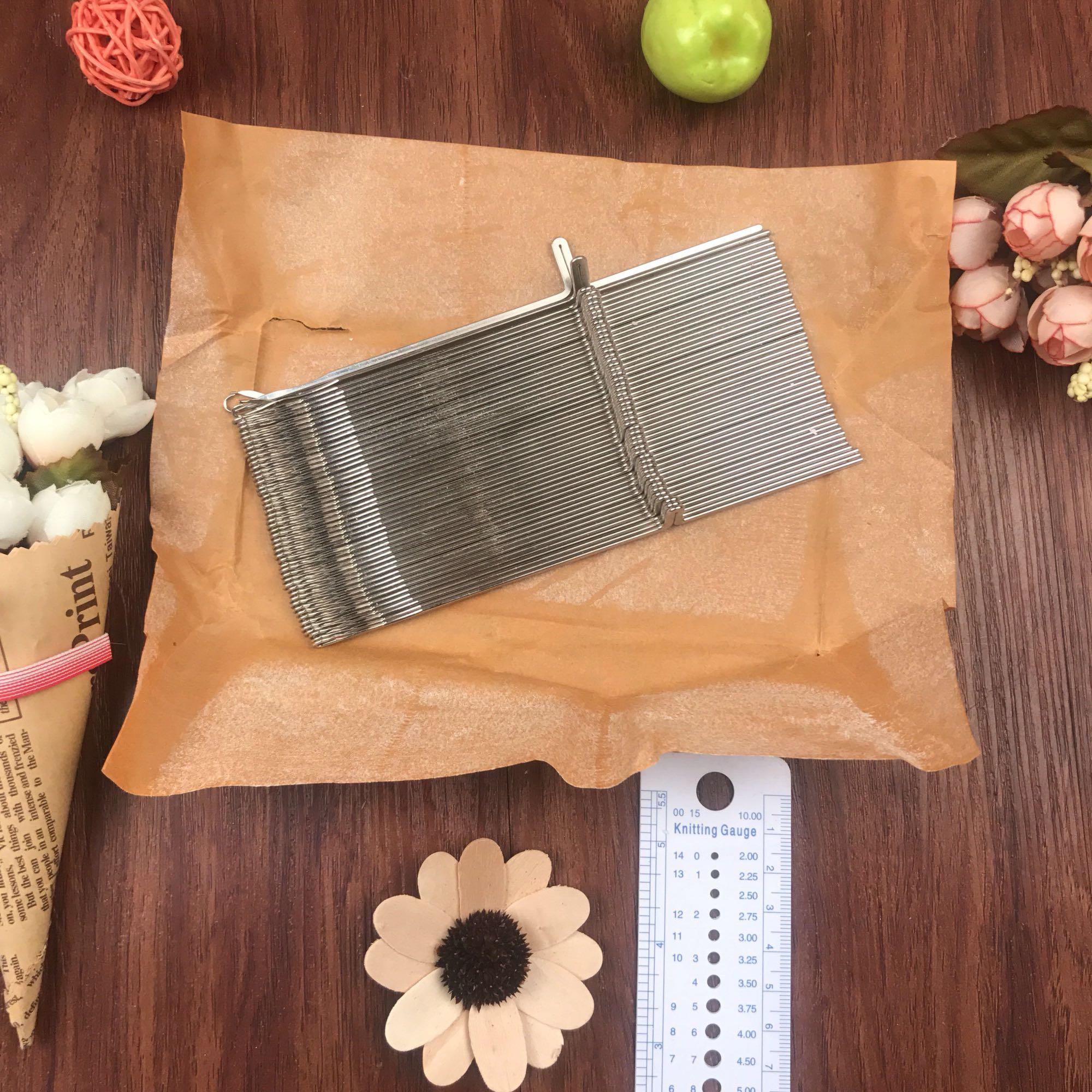 شحن مجاني KH260 آلة الحياكة الكروشيه هوك الإبر 15.7 سنتيمتر 50 قطع الأخ / الفضة آلات القص محبوك الرئيسي المناسب