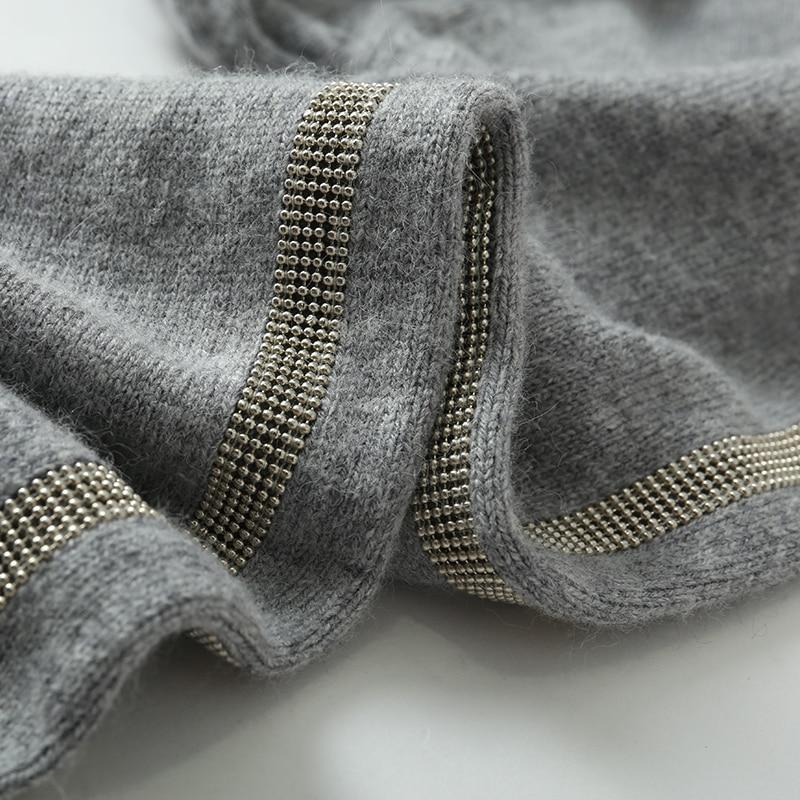 Cachemire Vison Base Deux Pull L'industrie Ensembles De En Lourde Femmes Nouveau Gris Velours 2018 Tricoté Pantalon Mode Costume 0YpRxq5