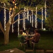 4x2.5m do podłączenia led racimos ślubne łańcuchy świetlne wróżka świąteczna światła girlanda led na zewnątrz w ogrodzie party drzewo patio wystrój