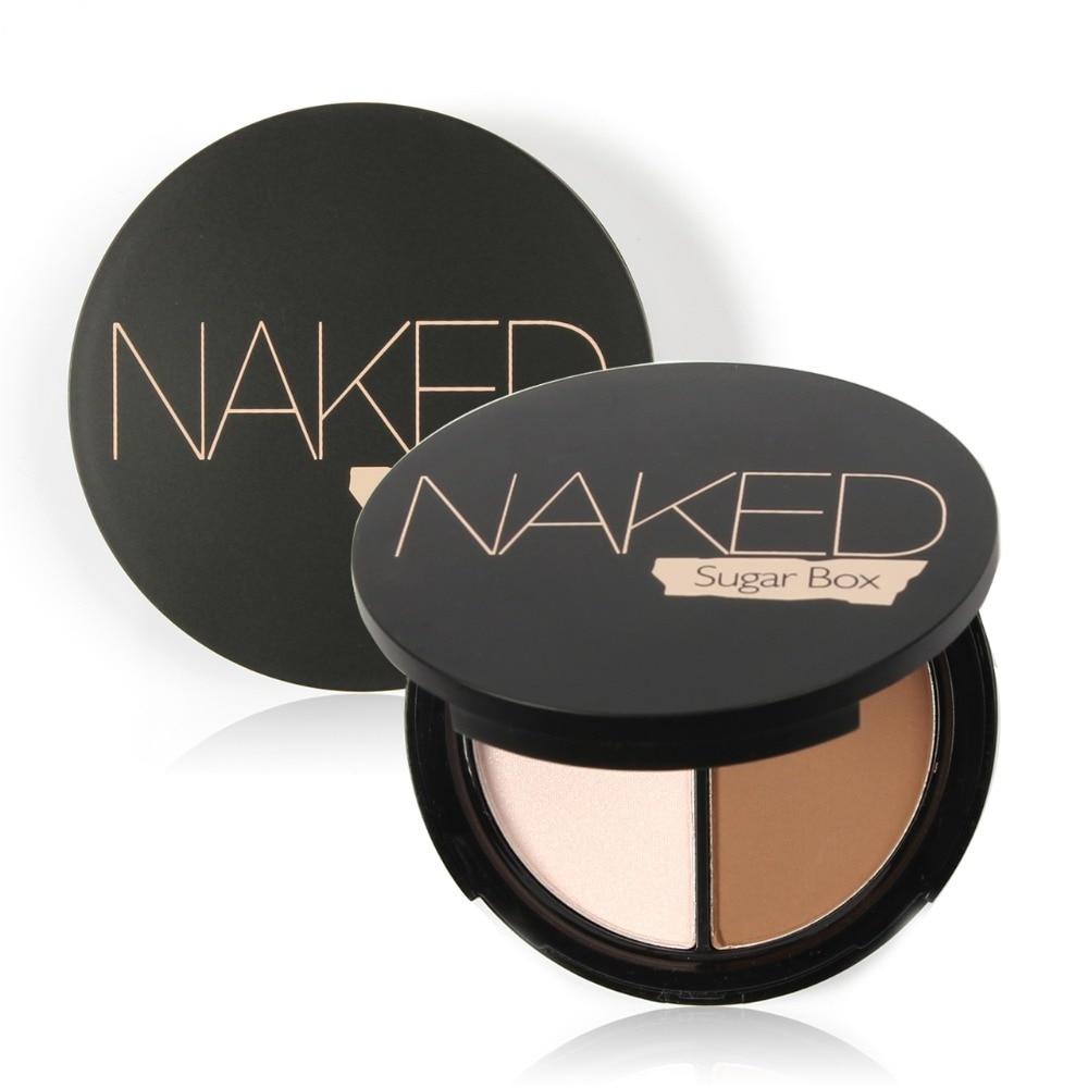 Sugar box Brand Makeup Face Highlighter & Bronzer Press Powder 2 color Highlight and Contour Palette Net 8.4g S-25