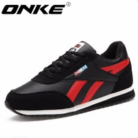 ONKE New Listing Hot Sales Winter Leather Plus Cashmere Non Slip Men Running Shoes Men Sneakers