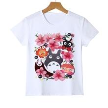 50c048b07b5b6 Kawaii Boys Tops Cute Totoro Cartoon Baby Print Tees Summer Harajuku Kids Totoro  T shirt O