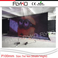 lighted parts led display screens led video curtain