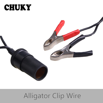 CHUKY Car Alligator Clip Cable Battery Car Cigarette Lighter Interface For Volkswagen VW Golf Captiva Honda Civic 2006-2011 Jeep image