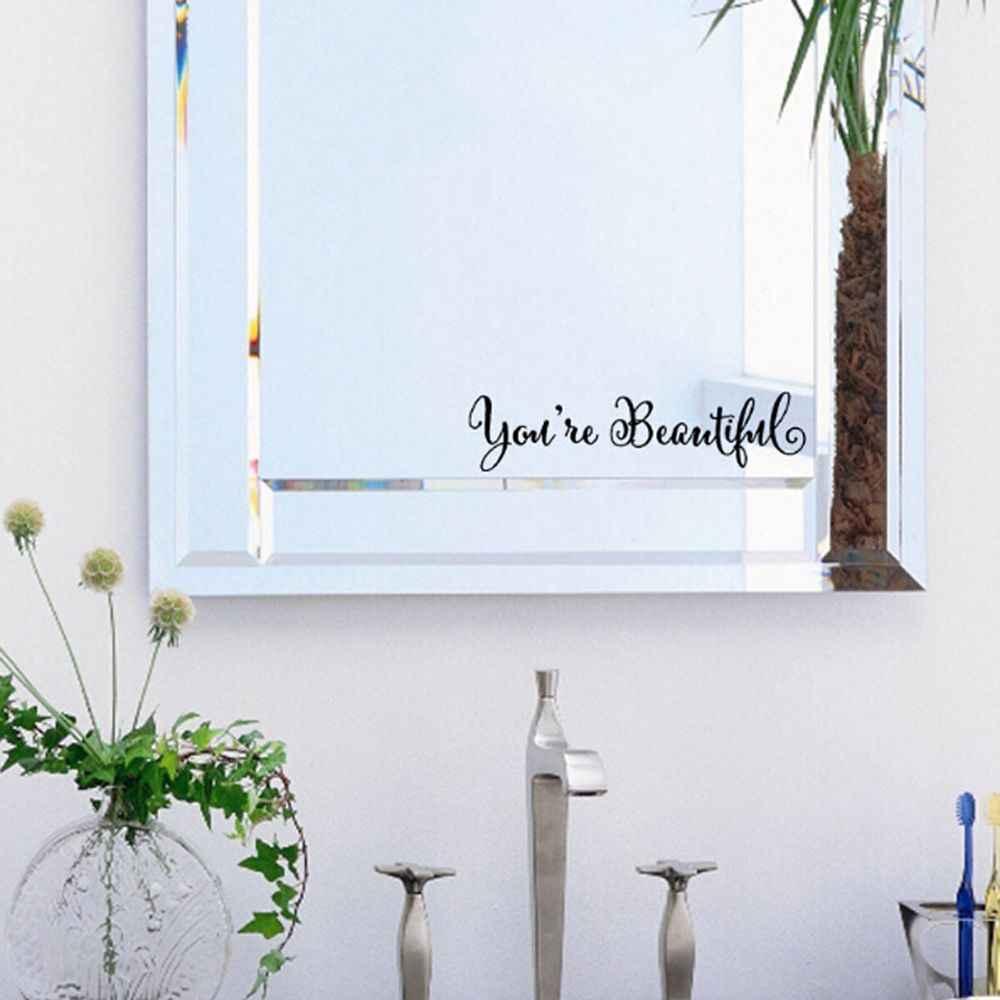 1PC בית מדבקות מראה אנגלית משלי קיר נייר אמנות תפאורה סלון נשלף ויניל טפטים בית שיפורים
