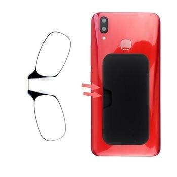1e7cded387 Mini Clip de la nariz fina portátil SOS gafas de lectura con teléfono caso  cartera Mini óptica