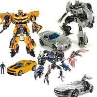 NEW in box Autobot robot Jazz Captain Lennox Barricade sideswipe Soundwave with laserbeak Transformation action figure toy MISB