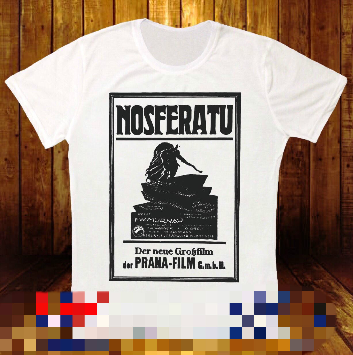 NOSFERATU EINE SYMPHONIE DES GRAUENS 1922 FILM RETRO VINTAGE UNISEX T SHIRT 759 Retro 100% Cotton Print Shirt Tee Tatoo Lover