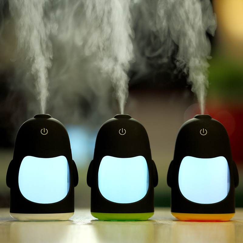 Tancredy Lovely Penguin Humidifier Night light Home Car USB Air Purifier Atomization Machine Mist Maker Fogger Humidifier