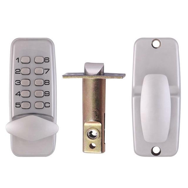 Password Entry Door Locks Keyless Security Zinc Alloy Waterproof With  Digital Machinery Code Keypad For School Dormitory Family