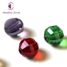 Shangquan AAA Wholesale 8MM 100Pcs Faceted Bead Crystal Glass Beads DIY Necklace Bracelat Jewelry Making