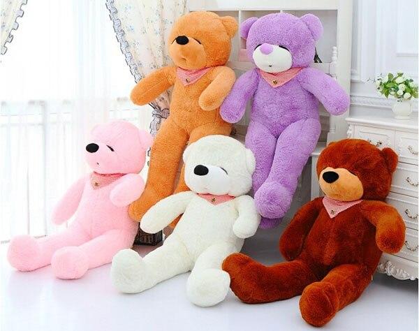 160CM/1.6M huge giant stuffed teddy bear animals kids baby plush toys dolls life size teddy bear girls gifts 2018 New arrival