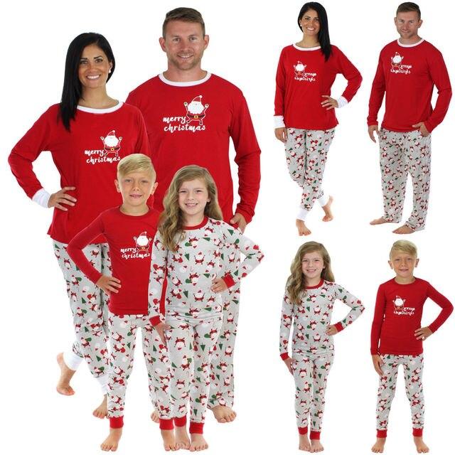 b9611f243dab 2017 Brand New Christmas Santa Claus Family Matching Pajamas Set Sleepwear  Nightwear Pyjamas Xmas Clothes 2Pcs Sets