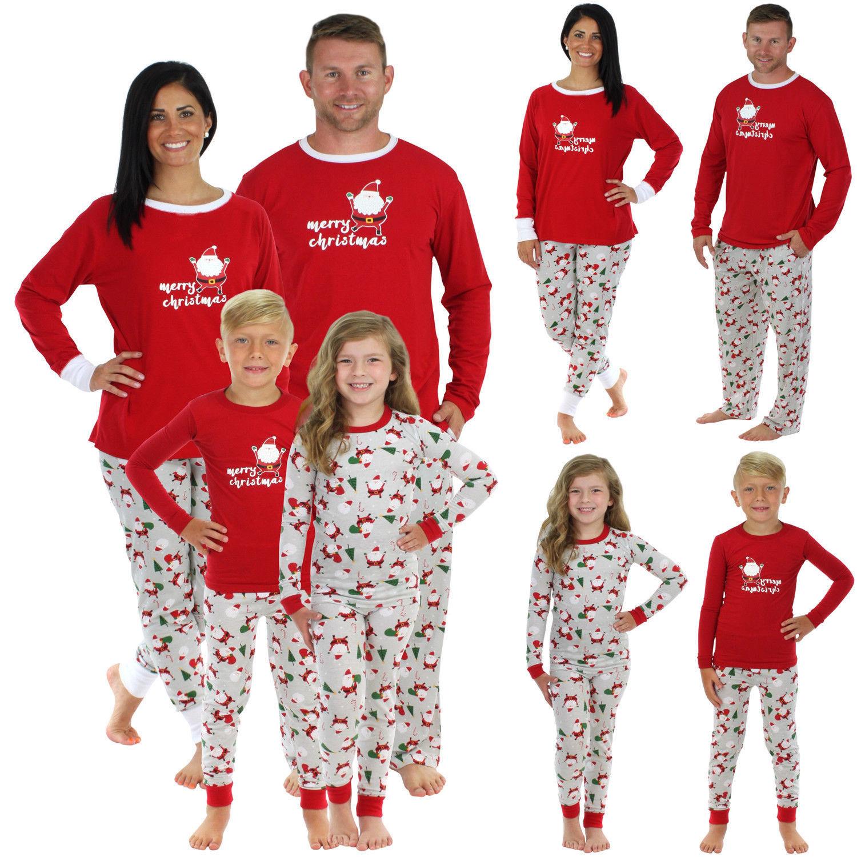 2017 Brand New Christmas Santa Claus Family Matching Pajamas Set Sleepwear Nightwear Pyjamas Xmas Clothes 2Pcs Sets