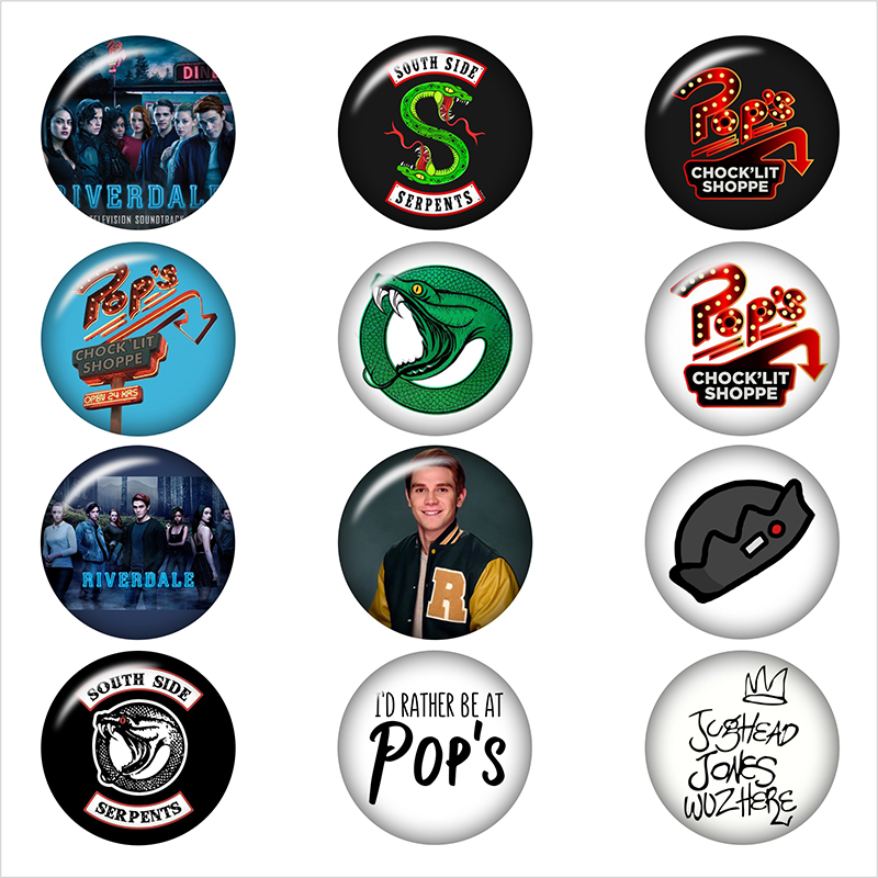 Pops Chocklit Shoppe riverdale snake Round photo glass cabochon demo flat back Making findings 12mm/18mm/20mm/25mm DA3064
