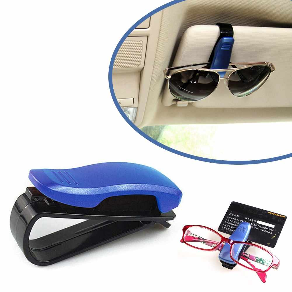 2018 New Arrival Car Sun Visor Glasses Sunglasses Ticket Receipt Card Clip Storage Holder Car Glasses Holder Case Free Shipping