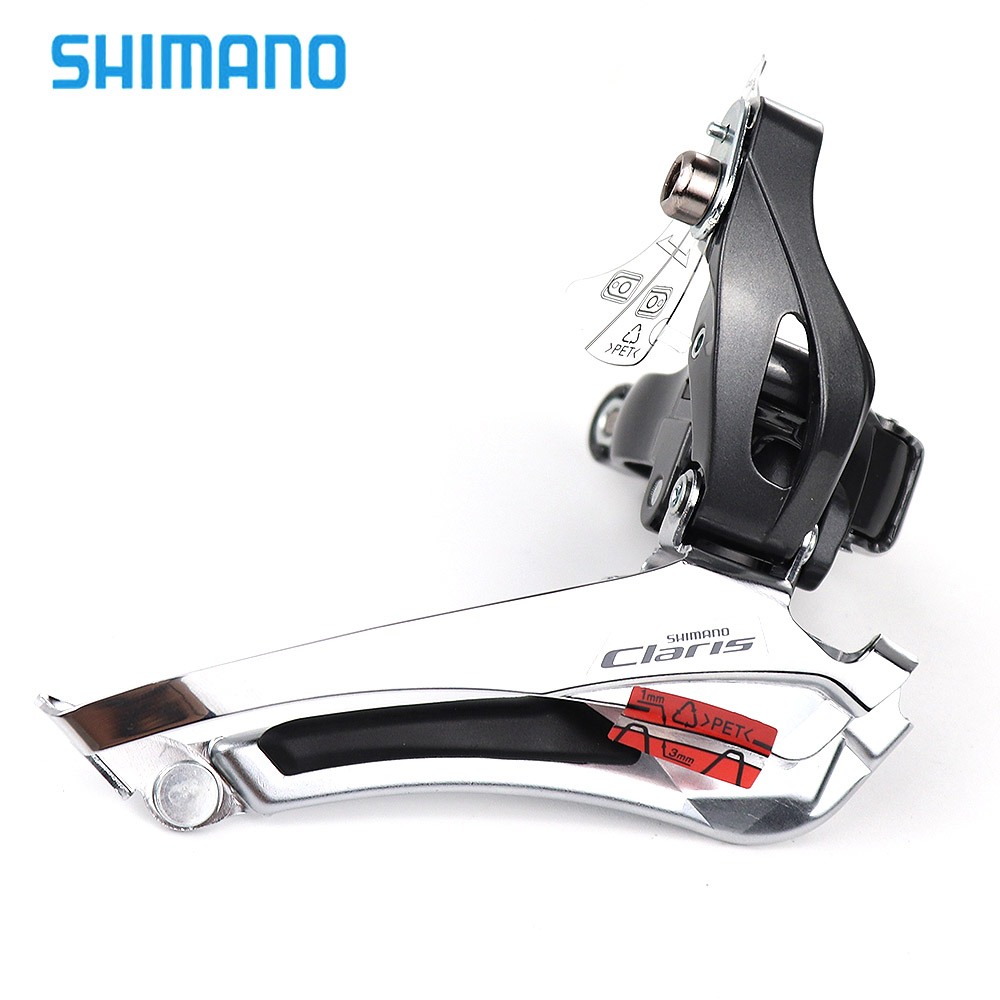 <font><b>Shimano</b></font> <font><b>Claris</b></font> FD-<font><b>R2000</b></font> Front Derailleur Road Bike Bicycle 2x8 Speed <font><b>R2000</b></font> front derailleurs Braze on / Clamp 31.8mm Black image
