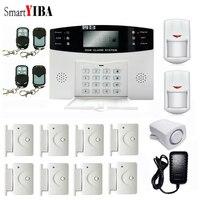 SmartYIBA Russian Spanish French Czech Voice Prompt Intercom GSM Wireless Alarm System Smart Home Burglar Security