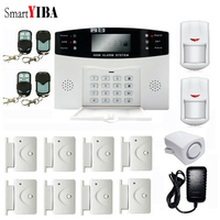 SmartYIBA Russian Spanish French Czech Voice Prompt Intercom GSM Wireless Alarm System Smart Home Burglar Security