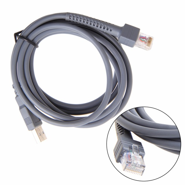 2 M Symbool Barcode Scanner Usb Kabel Ls1203 Ls2208 Ls4208 Ls3008