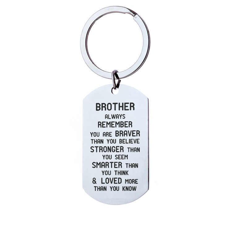 Brat/siostra brelok pamiętaj, jesteś odważny prezenty urodzinowe Big Brother prezent dla mężczyzn dla kobiet młodszy brat boże narodzenie prezenty