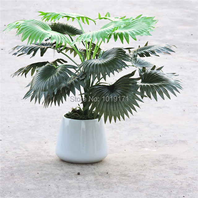50cm 18 leaf artificial coconut fan palm plant tree wedding home