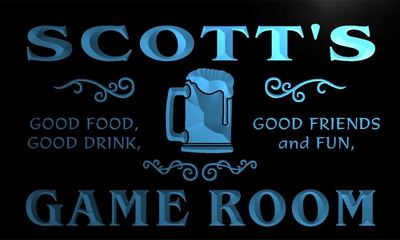 x0032-tm Scotts Game Room Beer Mug Custom Personalized Name Neon Sign Wholesale Dropshipping On/Off Switch 7 Colors DHL