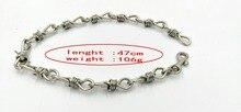 Ya. x hip hop men jewelry Handmade Men Women Chain Thorns Spur Necklace Heavy Duty Padlock Choker Metal Collar for necklace