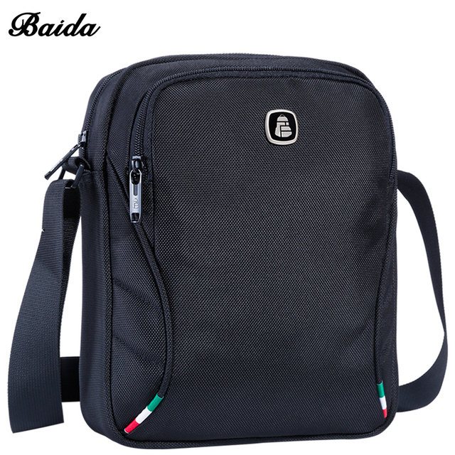 Baida Mens Black Crossbody Bag Designer Small Travel Crossover Bags Across Body Men Shoulder With
