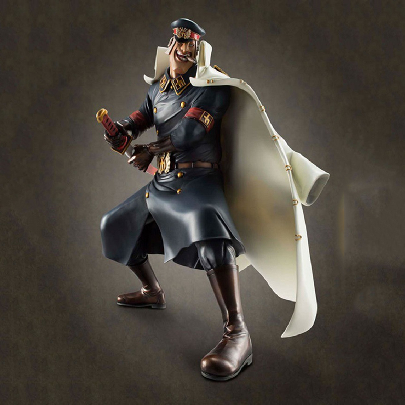 23cm One Piece Shiliew PVC Action Figure Black Beard Pirates Warden Dolls Collectible Models Toys fpr Boys Gifts Brinquedos one piece anime dx pirates shiryu shiliew of the rain 22cm 8 7 figure free shipping