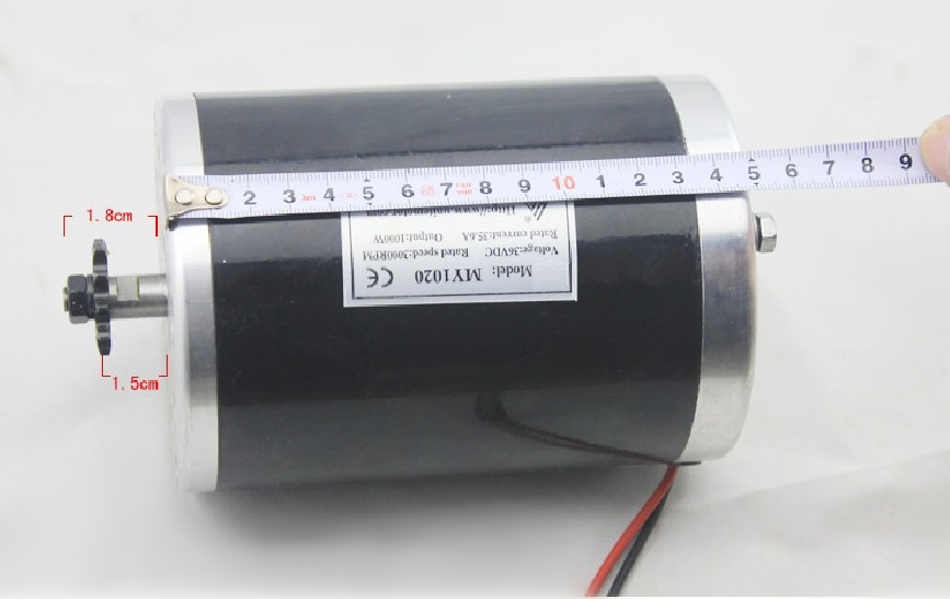 my1020 1000w 48v motor electric tricycle brush motor dc