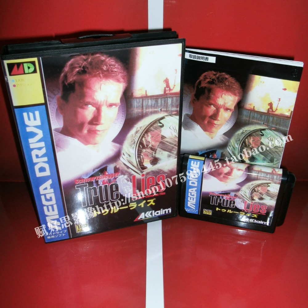 Ture lies Game cartridge with Box and Manual 16 bit MD card for Sega Mega Drive for Genesis