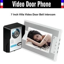"""Nuevo 7 pulgadas IR noche with2.4 Digital Vision Video de la puerta teléfono timbre del intercomunicador del teléfono sistema de 7 """" LCD Monitor en Color cámara exterior de infrarrojos"""
